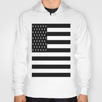 flag Hoodies featuring Flag by Blindspots Arts