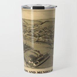 Aerial View of Wilson and Mendelssohn, Pennsylvania (1902) Travel Mug