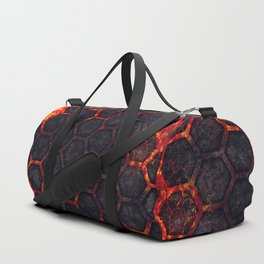 Lava Hexagons Duffle Bag