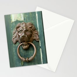 Lion heads of precious metal Stationery Cards