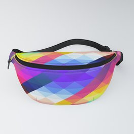 Abstract Colorful Decorative Squares Pattern Fanny Pack