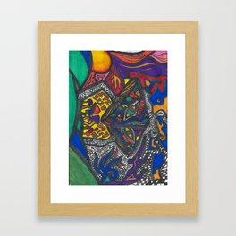 Mushroom Trip Framed Art Print