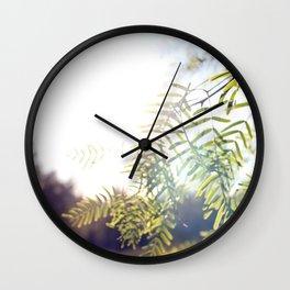 Leaves & Light Wall Clock