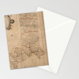 Vintage Map of Massachsuetts (1795) Stationery Cards