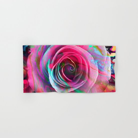Marble Colored Rose Hand & Bath Towel