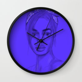 Joan in purple Wall Clock