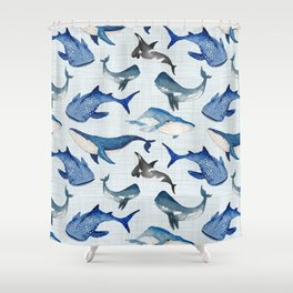 Spirit of the Sea / Linen Shower Curtain
