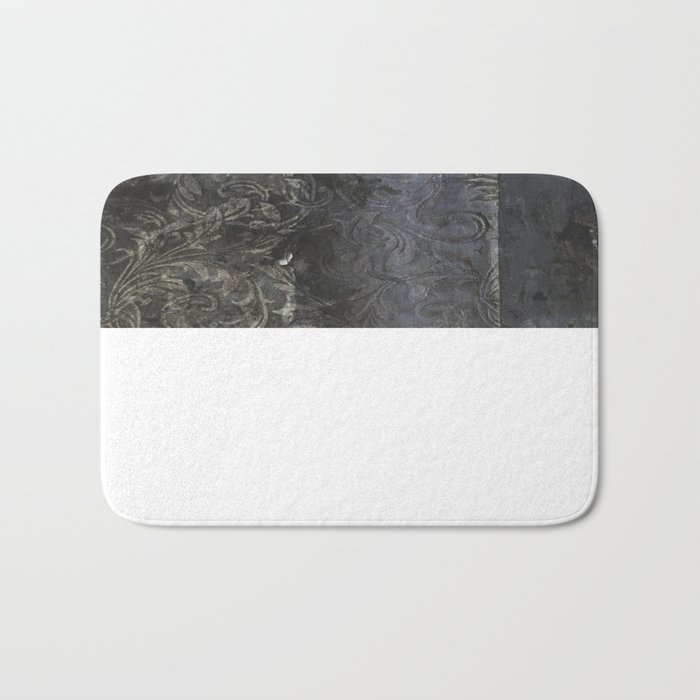 collage black Bath Mat