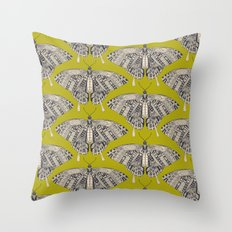 swallowtail butterfly citron basalt Throw Pillow