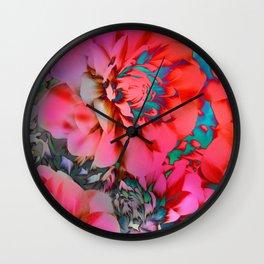 Proud Dahlias 2 Wall Clock
