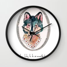 how lucky to be so unusually free Wall Clock