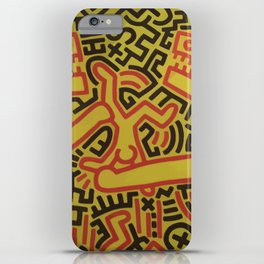 Monsters - keith haring iPhone Case
