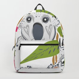 Koala animal nature lover happy print Backpack