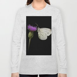 "White butterfly ""Pieris napi"" Long Sleeve T-shirt"