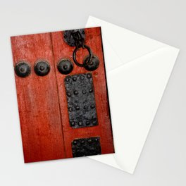 Red Door at the Korean Palace Stationery Cards