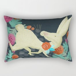 A Hare in The Forest Rectangular Pillow