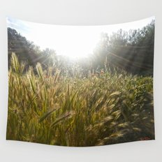 Wheat and poppies Wall Tapestry
