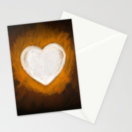 Fiery Heart Stationery Cards