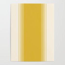 Marigold & Crème Vertical Gradient Poster