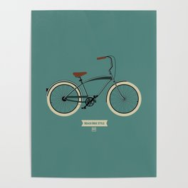 Beach bike style Poster