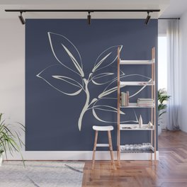 Classic leaves navy Wall Mural