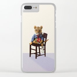 Tiny Tiger Valentine Clear iPhone Case