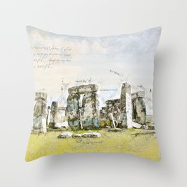 Stonehenge, England Throw Pillow