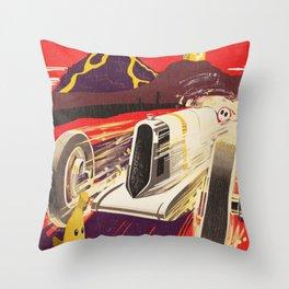 Grumble Volcano Grand Prix Throw Pillow
