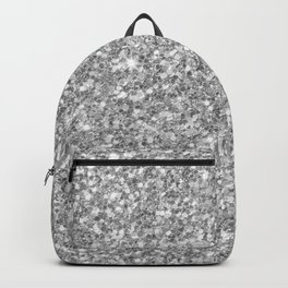 Silver Gray Glitter Backpack
