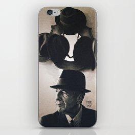 Leonard Cohen hats iPhone Skin