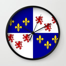 picardie region flag france province Wall Clock