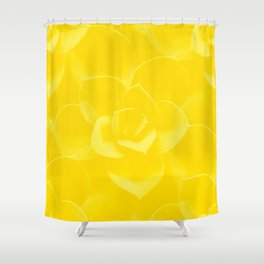 Succulent Plant Yellow Mellow Color #decor #society6 #buyart Shower Curtain