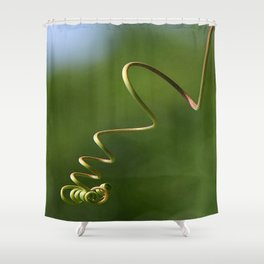 Spring Shaped Passion Flower Tendril  Shower Curtain
