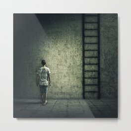 imaginary stairway escape Metal Print