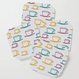 Teacups - multicolored Coaster