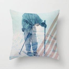 Husky Exploration Throw Pillow