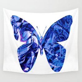 Fluid Butterfly (Blue Version) Wall Tapestry