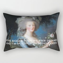 In Love with Being Queen of France Rectangular Pillow