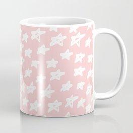 Stars on pink background Coffee Mug