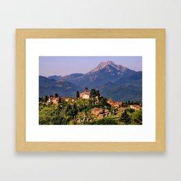 Town of Barga Framed Art Print