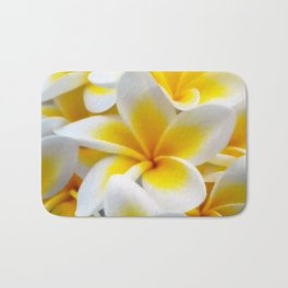 Frangipani halo of flowers Bath Mat