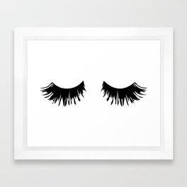 Eyelash Print Framed Art Print