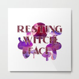 Witchy Puns - Resting Witch Face Metal Print