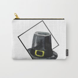 Hat in Square Thanksgiving Minimal Art Carry-All Pouch