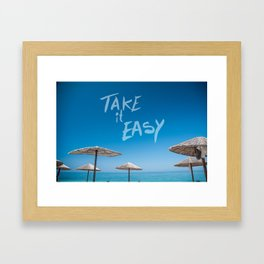 Take it easy II Framed Art Print