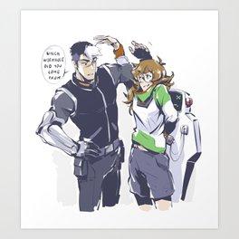PIDGE_SHIRO_SKTECHY_MESSY Art Print