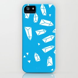 White Crystals on Blue iPhone Case