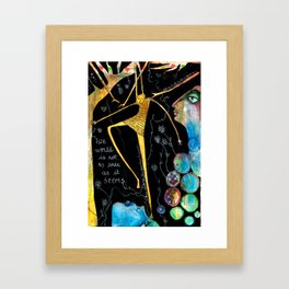 The world is not as dark as it seems Framed Art Print