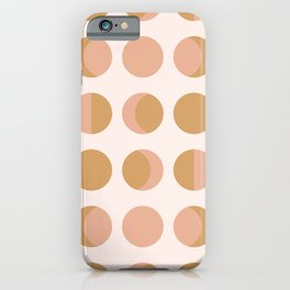 Moon Phases Blush iPhone Case