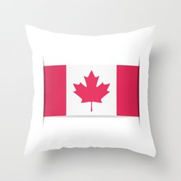 Flag of Canada. The slit in the paper with shadows. Throw Pillow